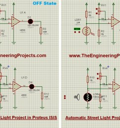 automatic street light project in proteus the engineering projects simple led circuit diagram led street lamp circuit [ 1236 x 796 Pixel ]
