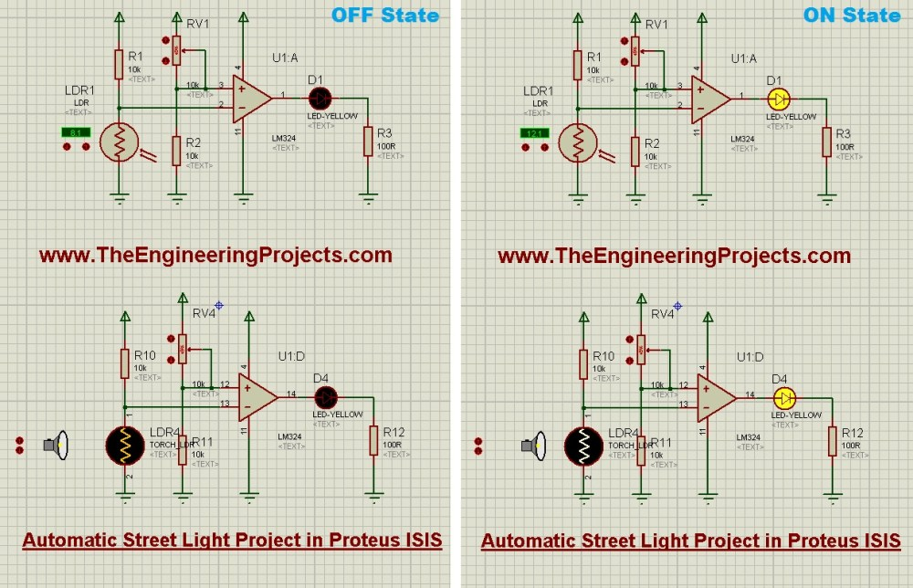 medium resolution of automatic street light project in proteus the engineering projects simple led circuit diagram led street lamp circuit