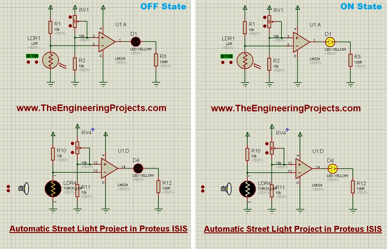 hight resolution of automatic street light project in proteus the engineering projects simple led circuit diagram led street lamp circuit
