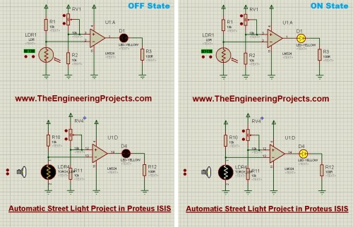 small resolution of automatic street light project in proteus automatic street light street light ldr ldr