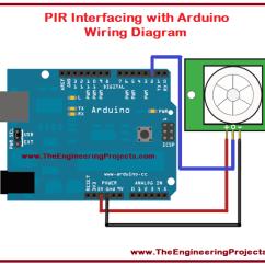 Pir Sensor Wiring Diagram 3 Humbucker Arduino Interfacing The Engineering Projects With Of