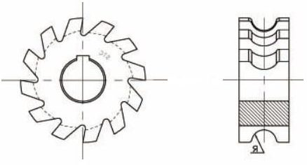 Concave milling cutter