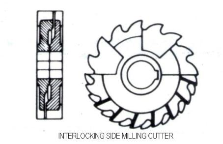 interlocking side milling cutter