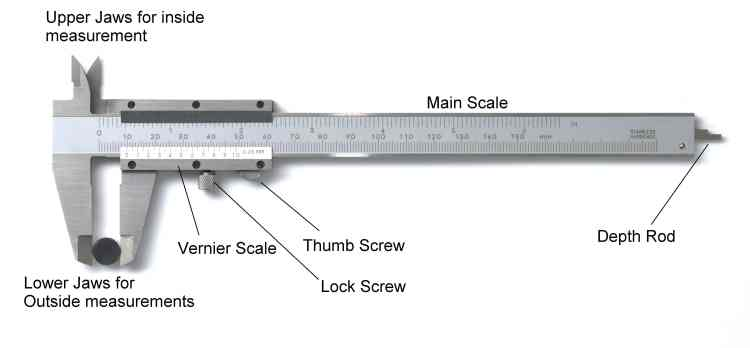 parts of vernier caliper