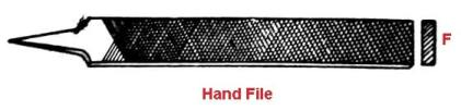 Types of file tool- Hand file