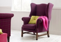Bedroom Wing Chairs: Upholstered Fabric Chairs, Studded ...
