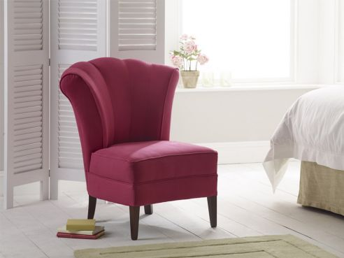 Bedroom Modern Chairs Upholstered Studded Cushioned