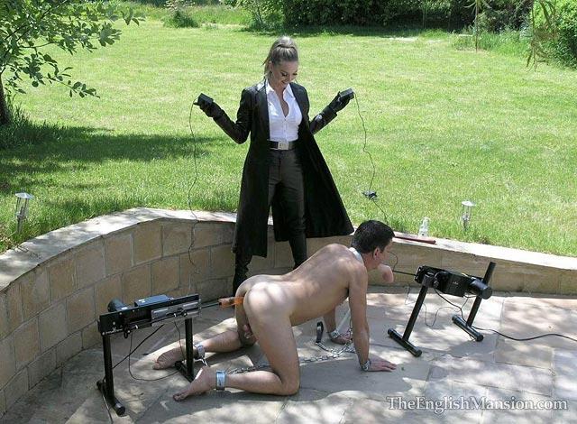 Double FMachine Spitroast  MSVB  Mistress Sidonias