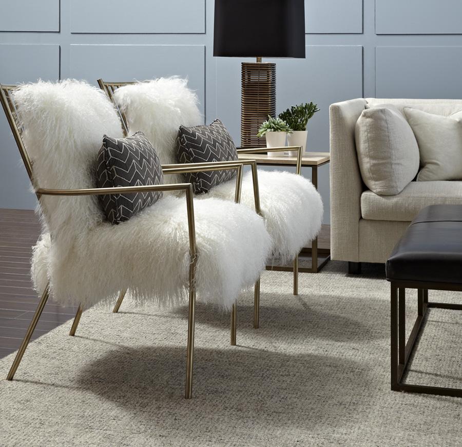 Fabulous Fur Furniture at Mitchell Gold  Bob Williams