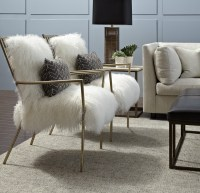 Fabulous Fur Furniture at Mitchell Gold + Bob Williams