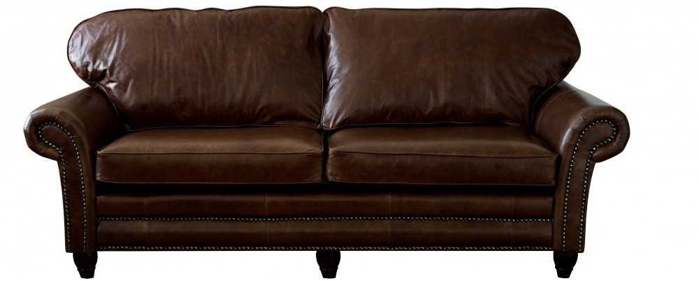 brown leather sofa on legs sectional corner bed cromwell sofas