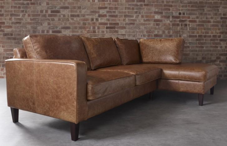 drake leather chaise sofa leather