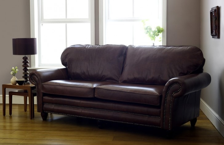 brown leather sofa on legs cheap sofas finance bad credit cromwell