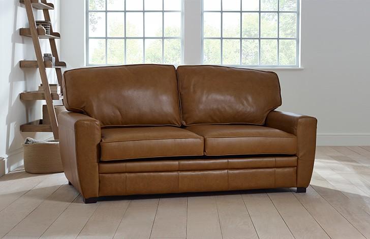 stafford square arm sofa leather sofa
