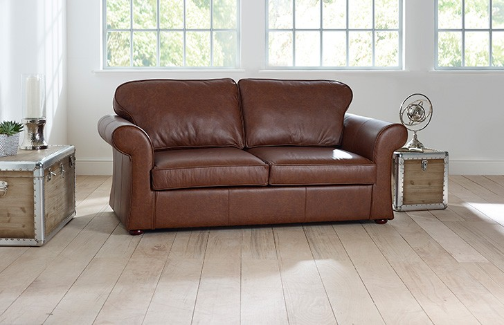 chatsworth curved leather sofa