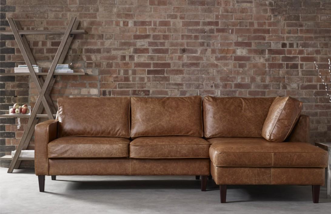Drake Leather Chaise Sofa Leather Corner Sofas