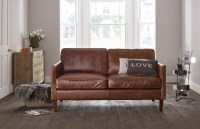2.5 Seater | Columbus Small Leather Sofa | Leather Sofas