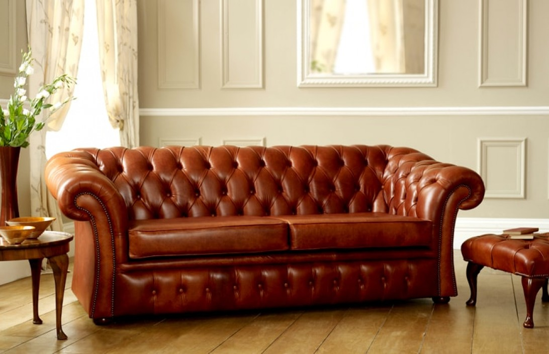 Pemberton Brown Leather Chesterfield  Leather Chesterfield Sofas