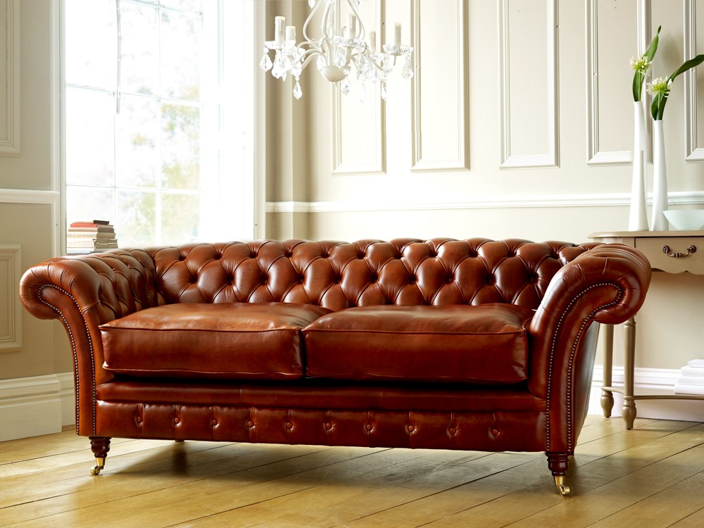 brown chesterfield sofa lazy boy leather sofas loveseats buttoned seat or cushioned ...