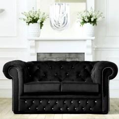 Black Leather Corner Sofa Bed Broyhill Loveseat Sleeper New Fabric Chesterfield