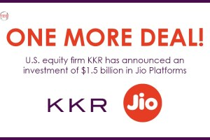One More Deal: U.S. equity firm KKR has announced an investment of $1.5 billion in  Jio Platforms