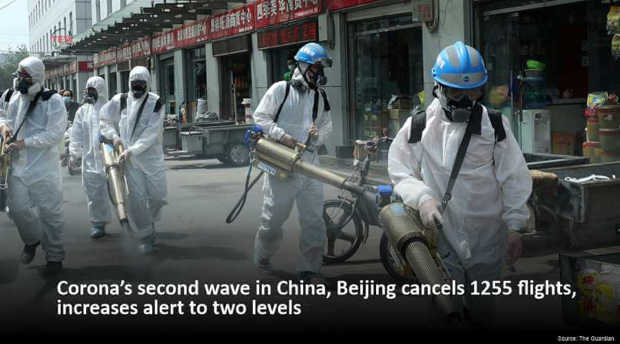 Coronavirus second wave in China, Beijing cancels 1255 flights, increases alert to two levels