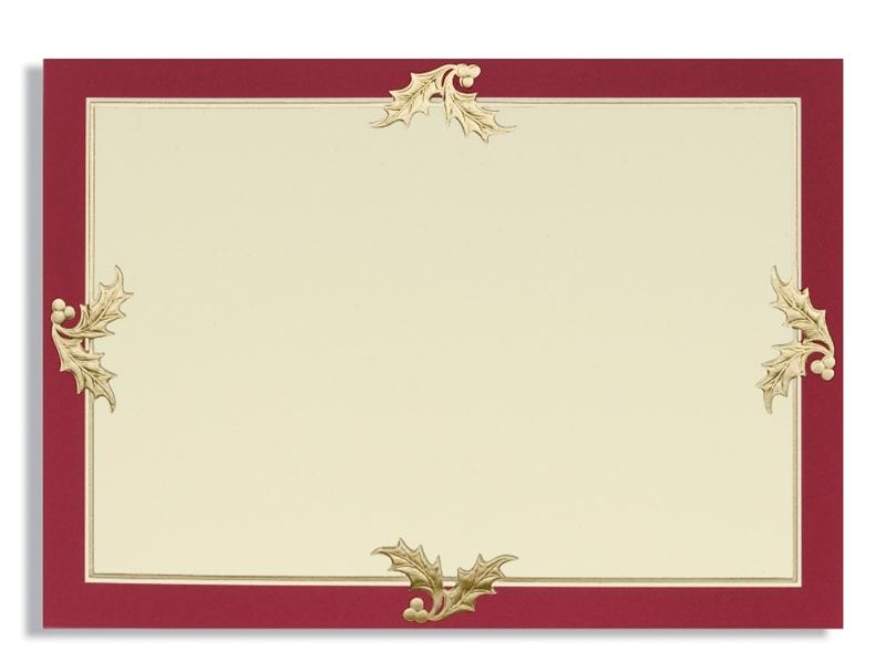 Burgundy BorderGold Foil 5 532 X 7 516 Card Box Of 250