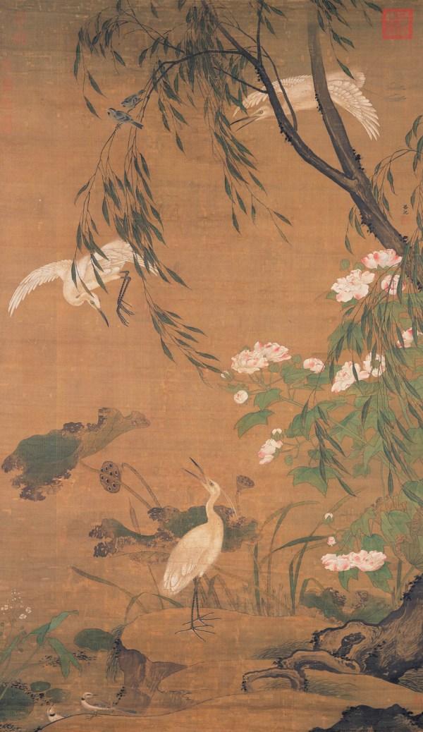 Egret Bird Chinese Painting