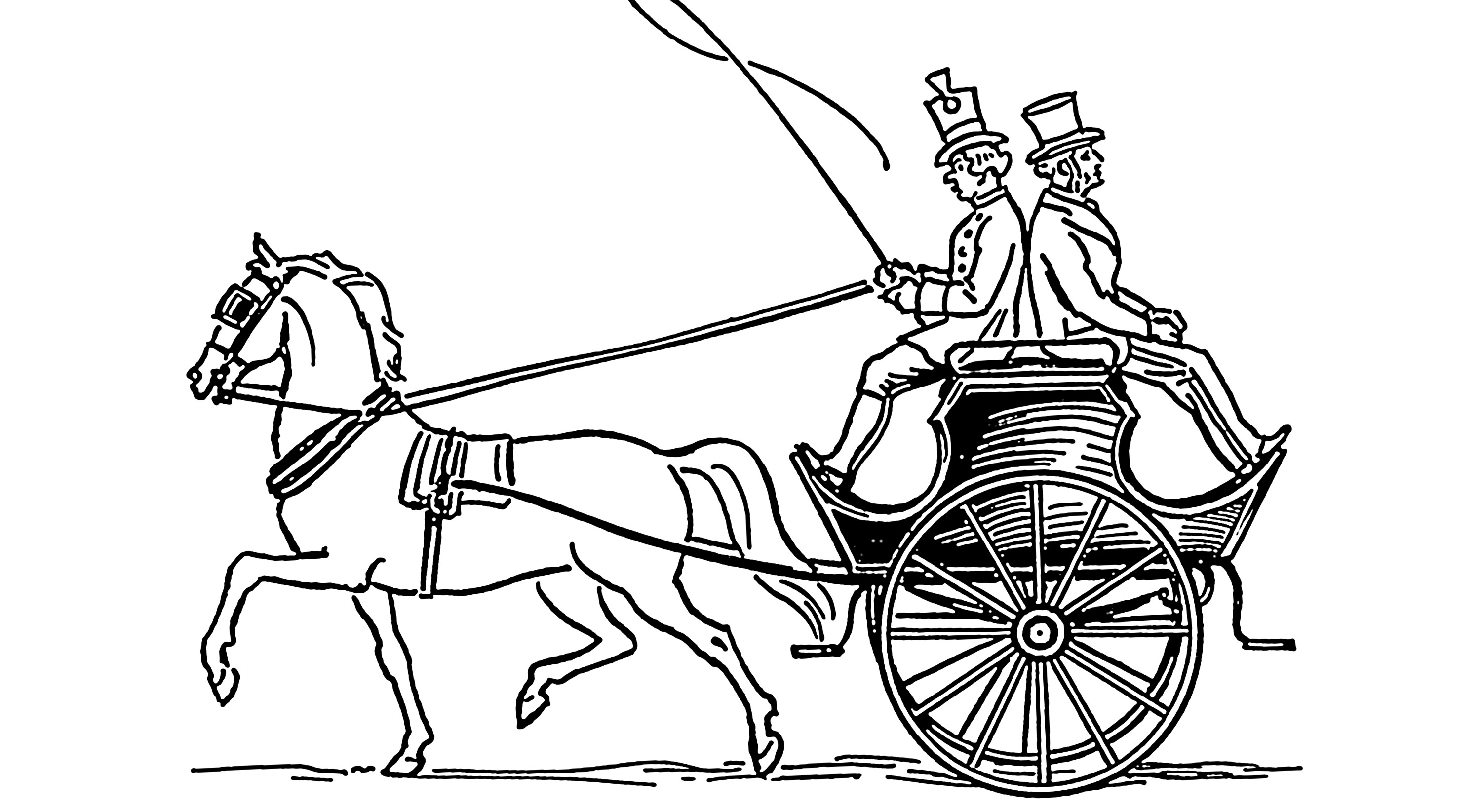Horses At Work Coloring Pages