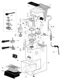 Gaggia Classic Spare Parts diagram, exploded diagram, The ...