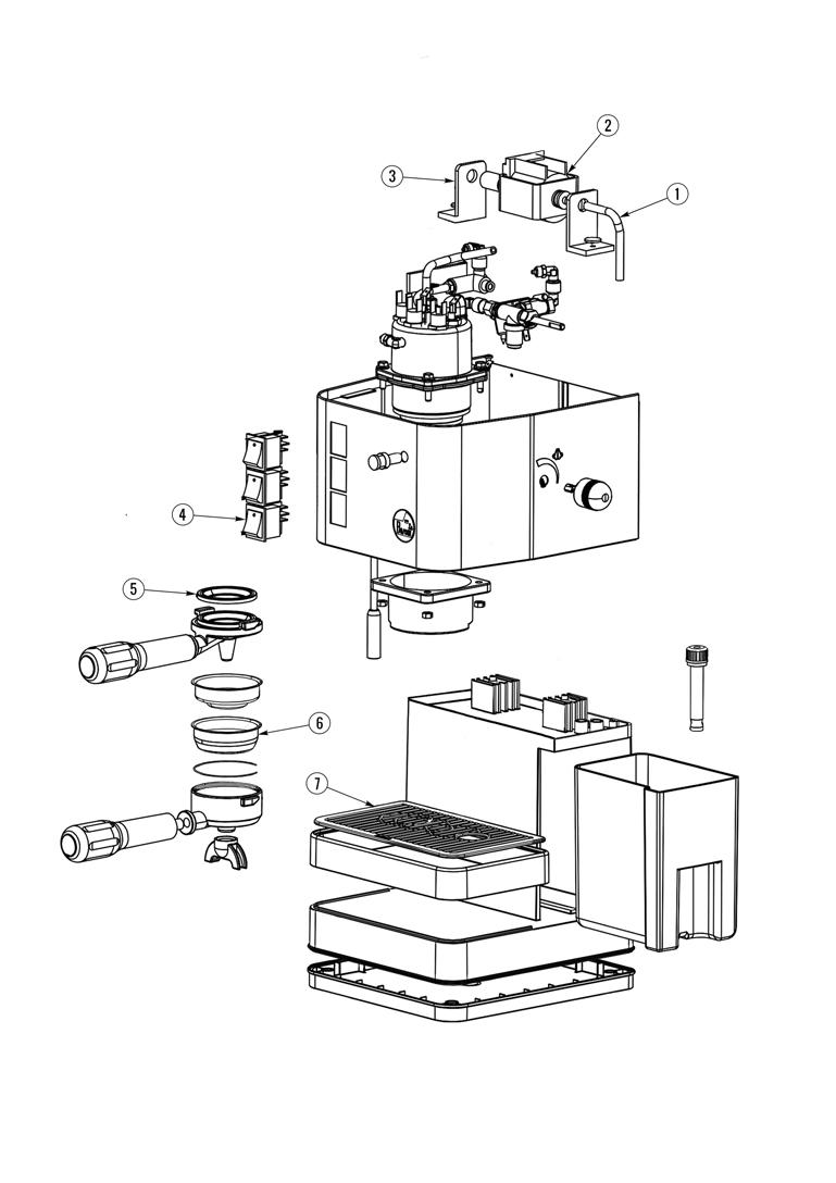 La Pavoni Puccino Spare Parts Diagram