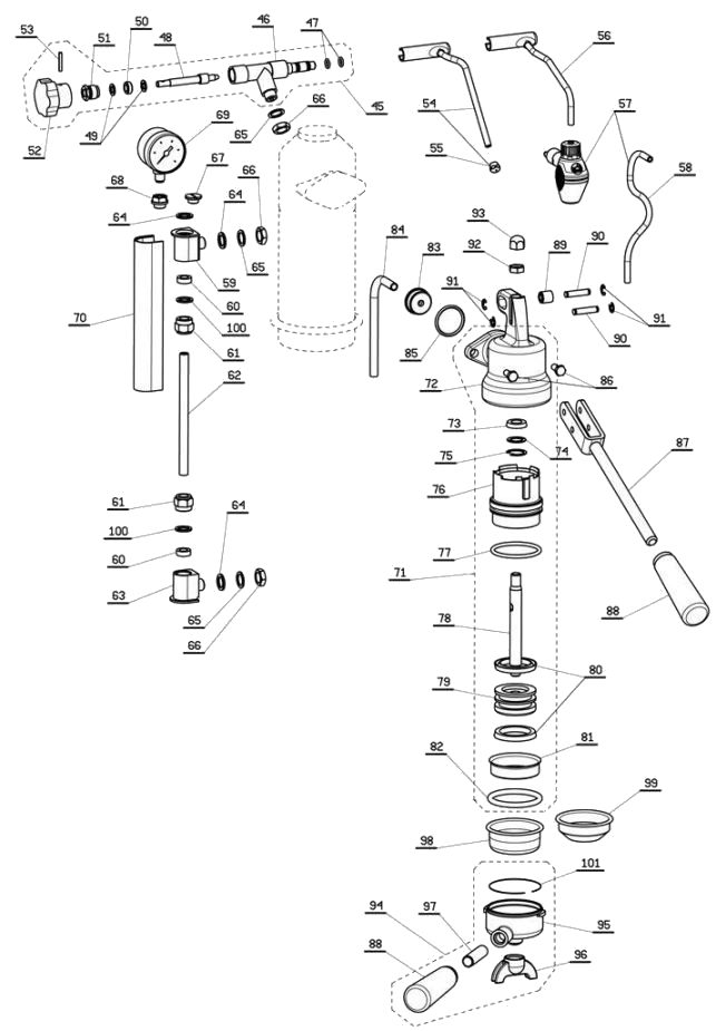 Group Head & Steam Control Components