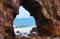 Coastal rock formations in Jericoacoara