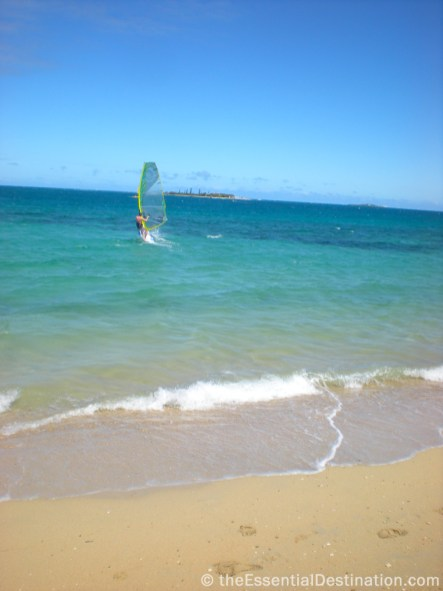 Windsurfing in Anse Vata