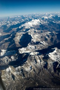 Flying over the Andes South America