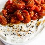 """""""Everything"""" Roasted Tomato topped Yogurt"""