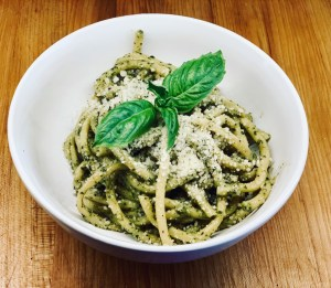 bucatini pesto vegetarian