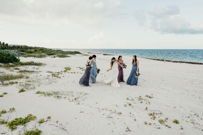 bride and groom Finest Playa Mujeres