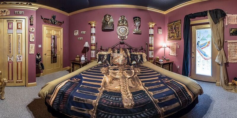 The Ever After Estates Egyptian Mummy Room  KingSized Fun