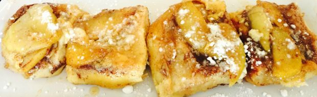 cropped apple french toast