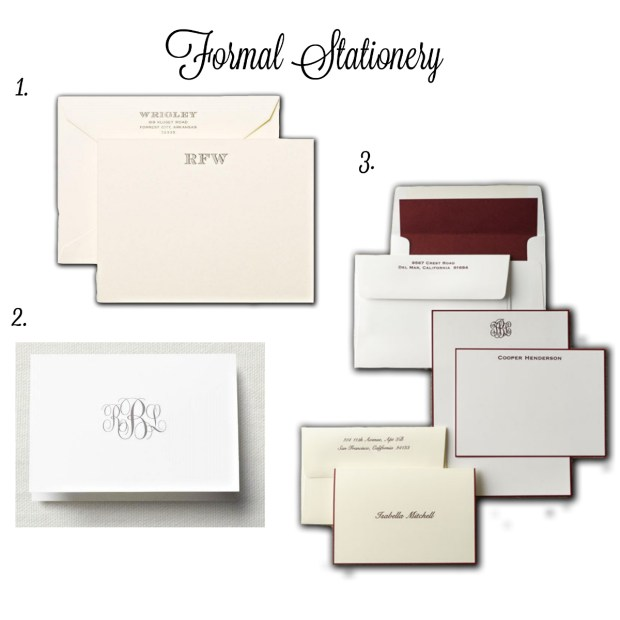 The Everyday Hostess Formal Stationery