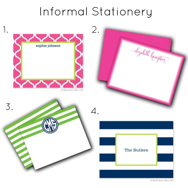 The Everyday Hostess - Informal Stationery