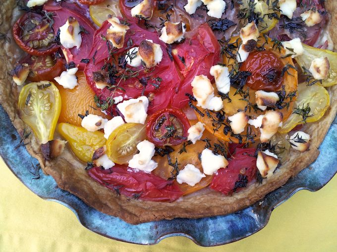 Tomato & Goat Cheese Tart at www.mybottomlessboyfriend.com