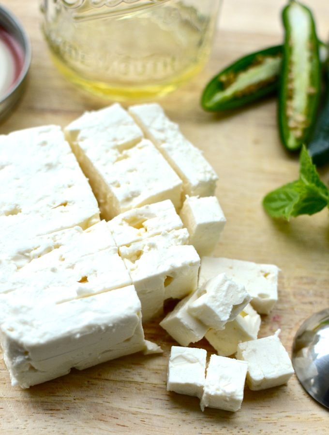 Jalapeno-Lemon Feta - a 5-minute marinade to kick your cheese up a notch. Get the recipe at www.mybottomlessboyfriend.com