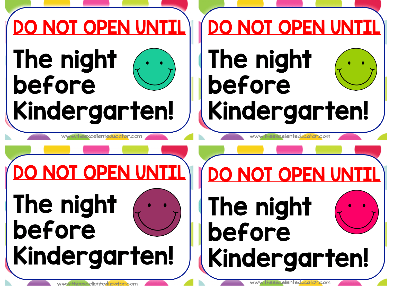 Welcome Packet Ideas For Open House