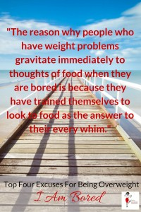 Top Four Excuses For Being Overweight - I Am Bored - Pin