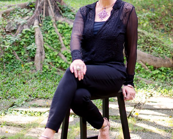 Victorian-Inspired Black Outfit, fashion over 40