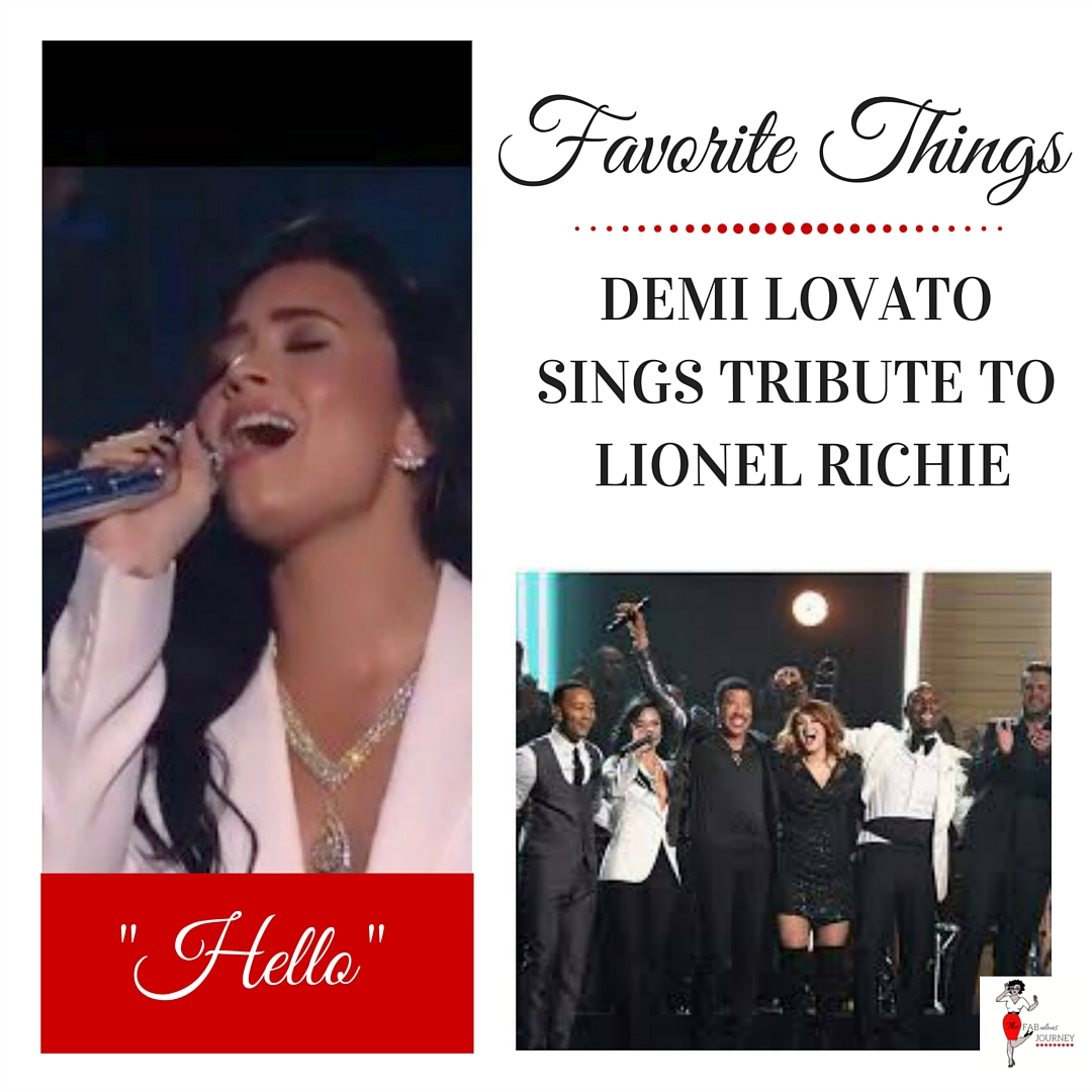 Demi Lovato's Tribute To Lionel Richie, Thursday Favorite Things Blog Hop, linky party
