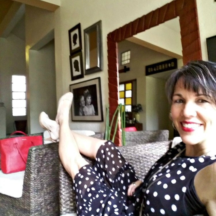 love polka dots, what I really wore, fashion over 40