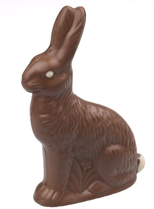 hollow chocolate bunny - wonderful Wednesday
